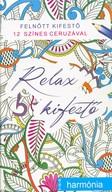 Relax kifestő - Harmónia /Felnőtt kifestő 12 színes ceruzával