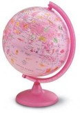 Földgömb 25cm PINK ZOO, állatvilág tematikával - világító