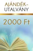 Ajándékutalvány 2000 forint