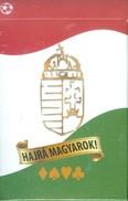 Hajrá Magyarok! - szurkolói römi kártya /Ajándék arcfestéssel