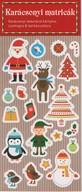 Karácsonyi matricák - Karácsonyi dekoráció kártyára, csomagra & barkácsolásra