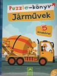Puzzle-könyv: Járművek - 5 kirakóval