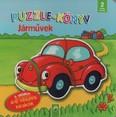 Puzzle-könyv: Járművek - 5 oldalon 4-6 részes kirakók