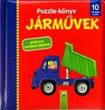 Puzzle-könyv: Járművek /10 hónapos kortól