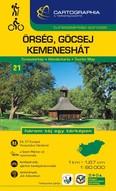 Őrség, Göcsej, Kemeneshát turistatérkép (1:60 000) /Turistatérkép-sorozat